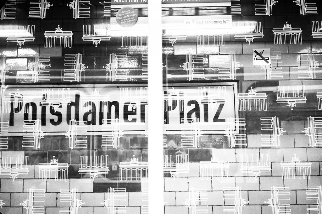 "Friday, January 23rd,  2015 in Berlin - Number 024 of 366mm Subway stop at ""Potsdamer Platz"" - with self portrait"