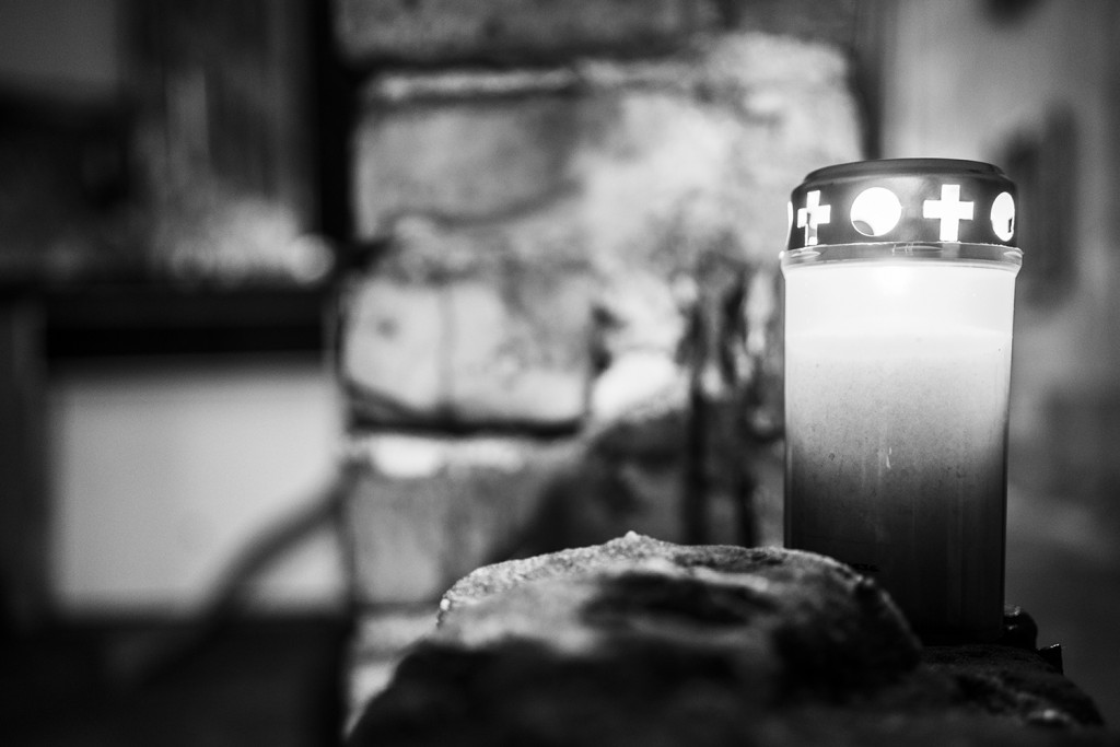 Friday, February 13th,  2015 in Frankfurt - Number 045 of 366mm This candle is dedicated to Christopher, a childhood friend, died from the consequences of lung cancer 12 years ago