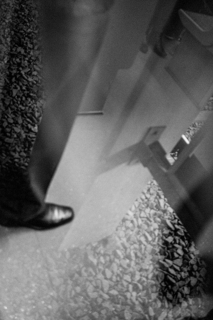 Tuesday, March 10th, 2015 in Frankfurt - Number 070 of 366mm Foot reflection in the train