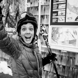 Tuesday, March 17th, 2015 in Ischgl - Number 077 of 366mm Happy Nicole expecting the next ski run