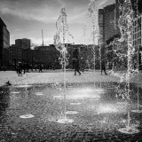"Tuesday, April 7th, 2015 in Frankfurt - City - Number 098 of 366mm Fountains at  the ""Goetheplatz"""
