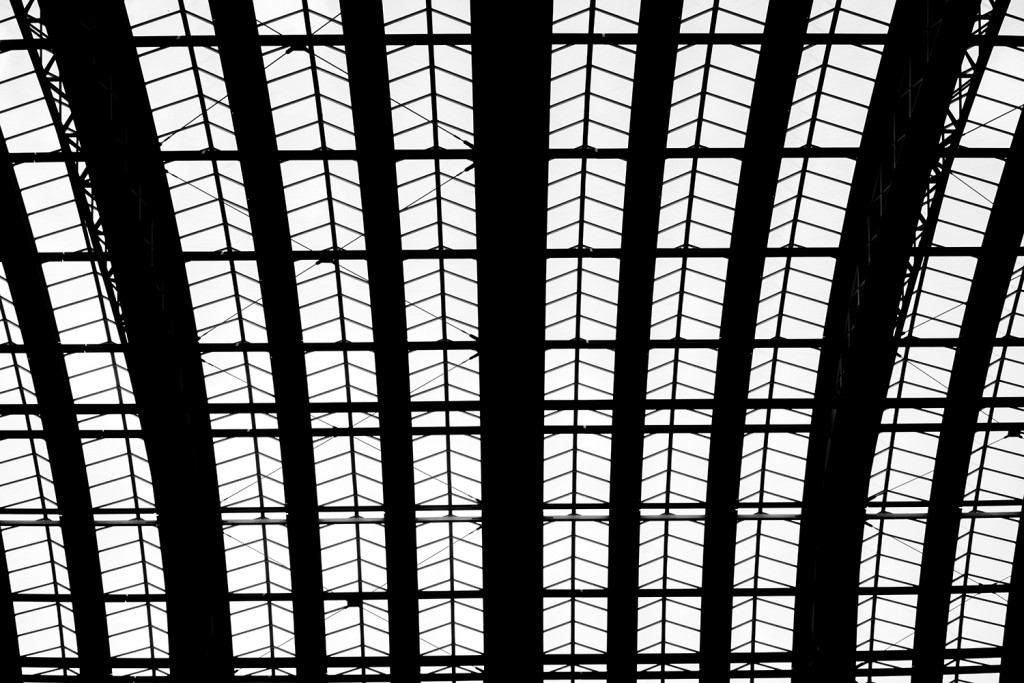 Monday, April  13th, 2015 in Frankfurt -  Number 104 of 366mm View into the roof of the train station