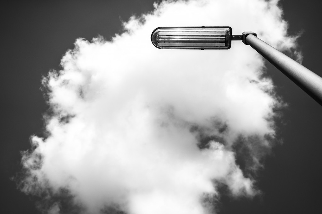 Saturday, April 18th, 2015 in Frankfurt - Number 109 of 366mm Street light covered by a cloud
