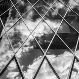 "Tuesday, April 28th, 2015 in Frankfurt - City - Number 119 of 366mm The house front of the ""MyZeil""-shopping center reflects the clouds"