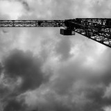 Tuesday, May 5th, 2015 in Frankfurt - City - Number 126 of 366mm Update to Number 052 - Crane draped in clouds