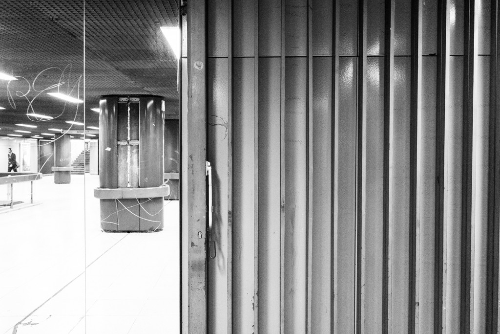 "Tuesday, May 12th, 2015 in Frankfurt - City - Number 133 of 366mm Underground station ""Frankfurt Hauptwache"" - underground mirror"