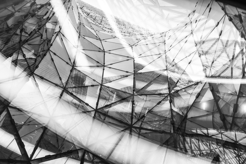 """Friday, June 5th, 2015 in Frankfurt - City - Number 157 of 366mm Spiral of glass in the shopping center """"MyZeil"""""""