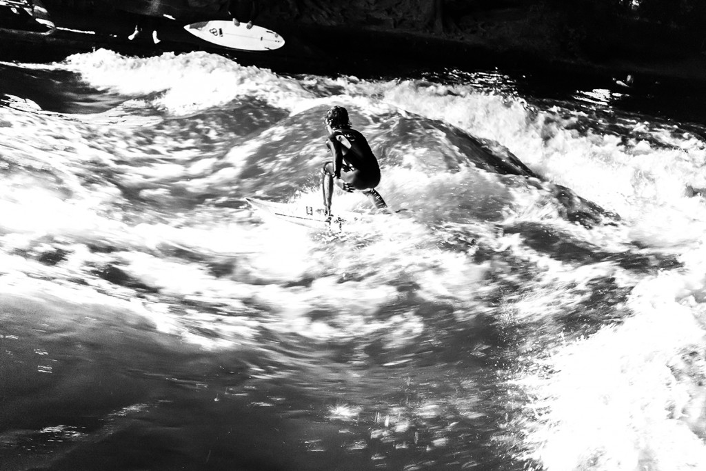 "Wednesday, July 1st, 2015 in Munich - Number 183 of 366mm Night surfing on the ""Eisbach"" in Munich"