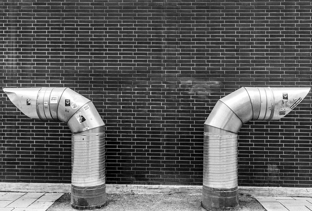Tuesday, July 7th, 2015 in Frankfurt - Number 189 of 366mm Ventilation pipes of a parking facility