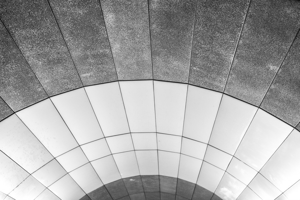"Thursday, July 9th, 2015 in Frankfurt - Number 191 of 366mm View into the ceiling of the subway station ""Schweizer Platz"""