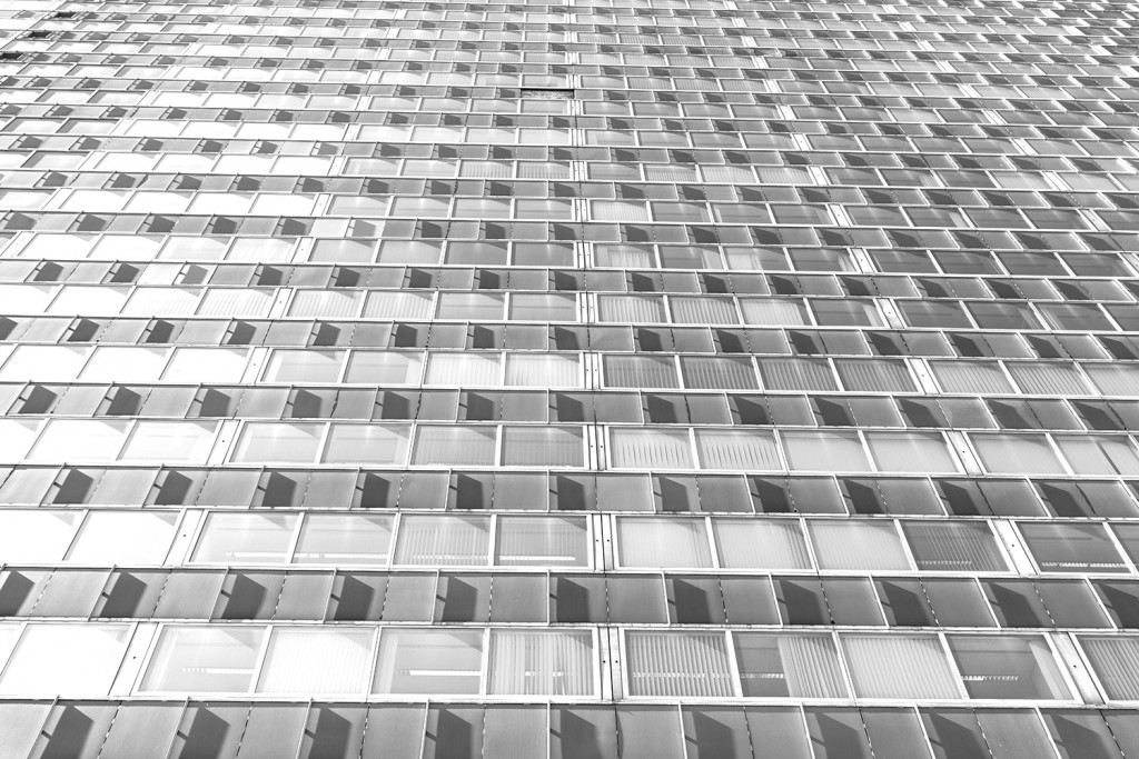 Friday, July 10th, 2015 in Offenbach - Number 192 of 366mm Window facade of an office building near Offenbach Kaiserlei
