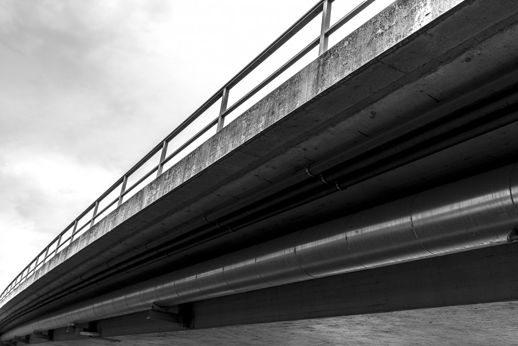 Sunday, July 12th, 2015 in Frankfurt - Number 194 of 366mm View of a motorway bridge in Frankfurt Hausen near the Nidda