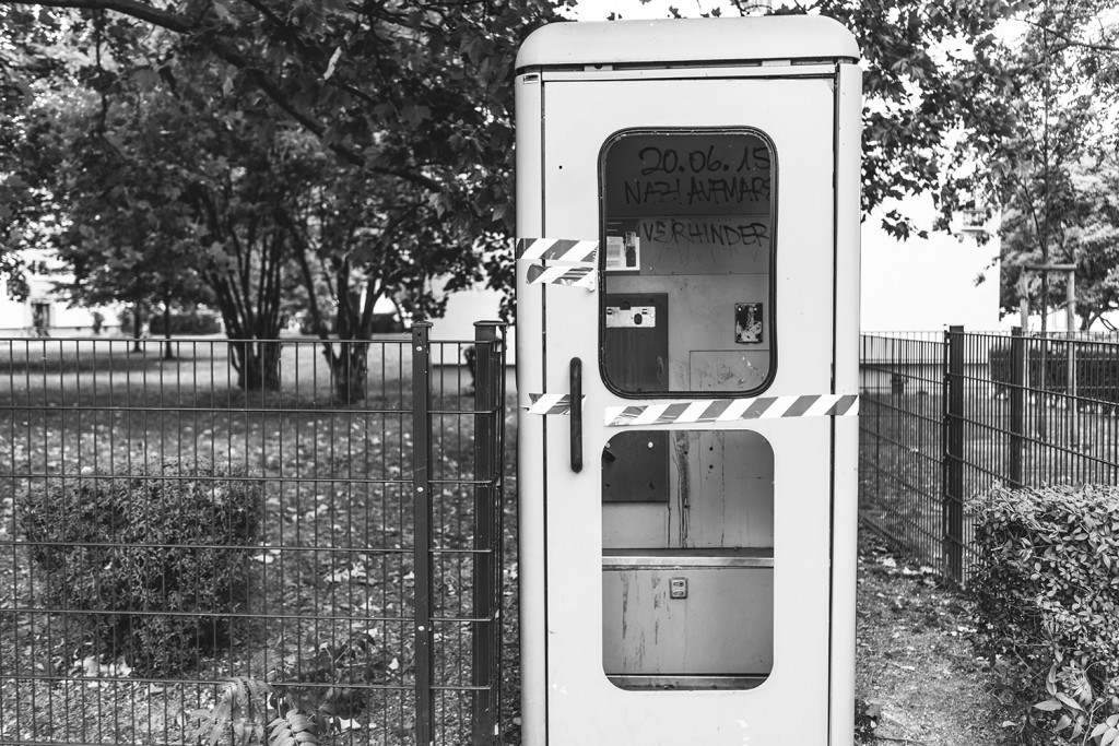 Saturday, July 18th, 2015 in Frankfurt - Number 200 of 366mm Rarity: A public telephone - predecessor of mobile phones