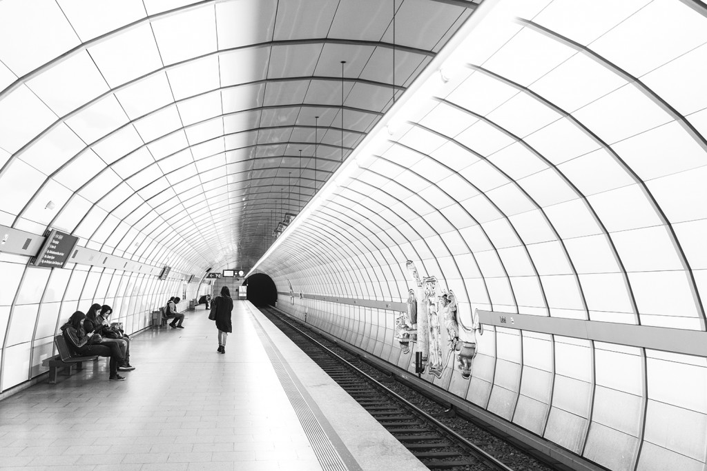 Thursday, July 30th, 2015 in Munich - Number 212 of 366mm Waiting for the train; subway station in Munich