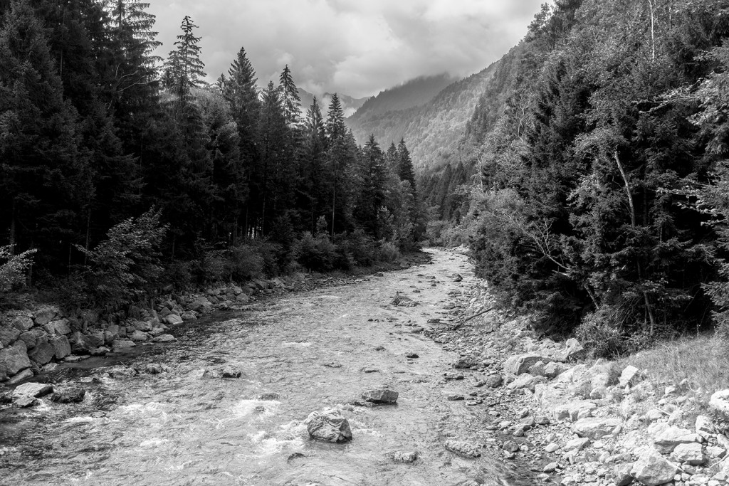 Tuesday, August 18th, 2015 in Lorüns - Number 231 of 366mm Mountain stream seen on the way back to Frankfurt; near a small town called Lorüns