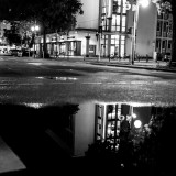 Monday, August 24th, 2015 in Frankfurt - Number 237 of 366mm Crosswalk disappeared in the mirror of a puddle