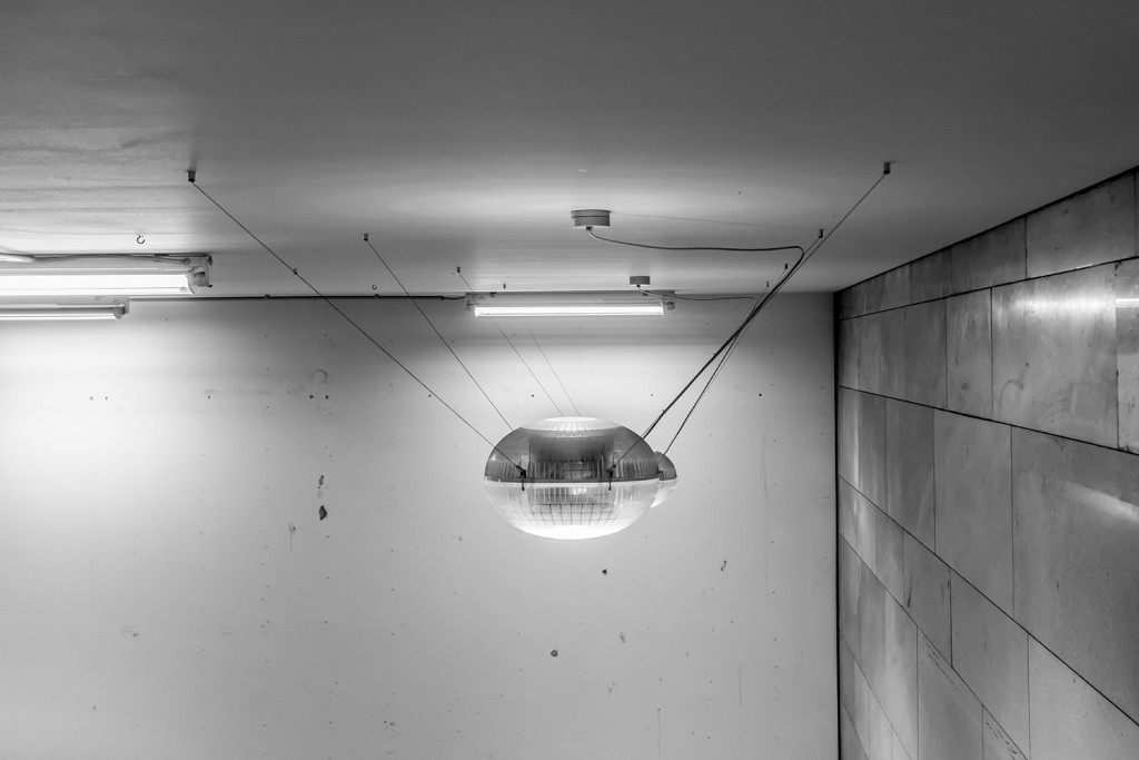 Friday, September 25th, 2015 in Frankfurt - Number 269 of 366mm UFO -looking lamp at Frankfurt central station