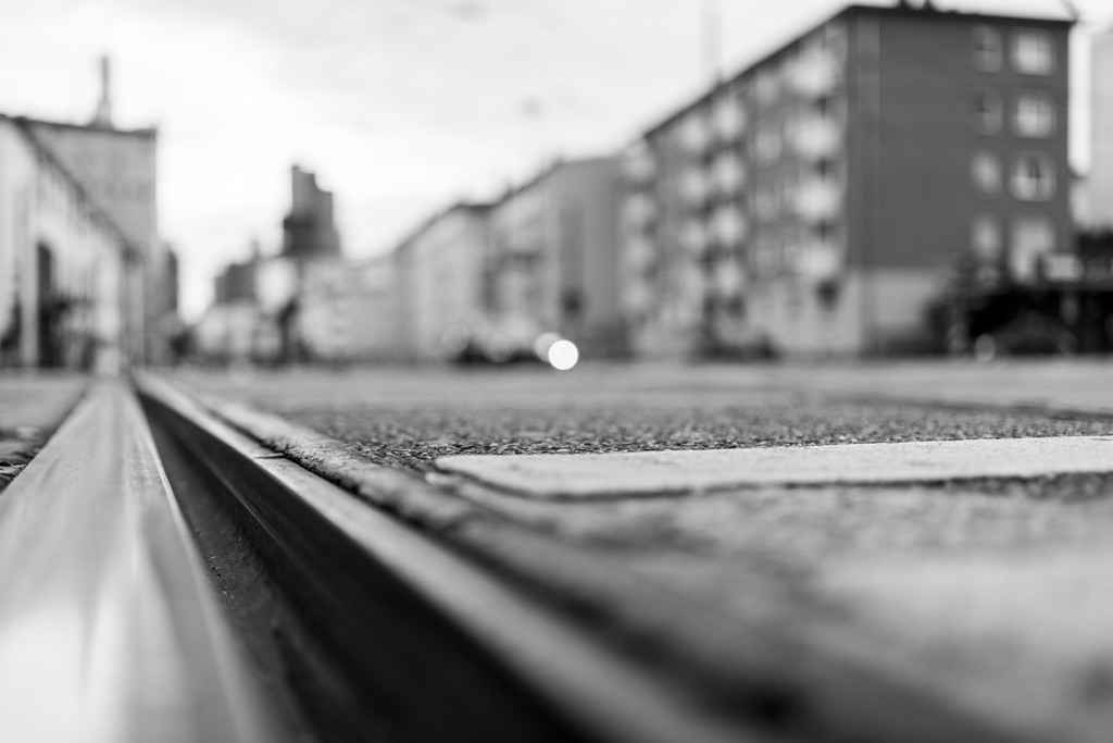"Saturday, September 26th, 2015 in Frankfurt - Number 270 of 366mm Rails at the intersection of ""Berliner Straße"" in Frankfurt"