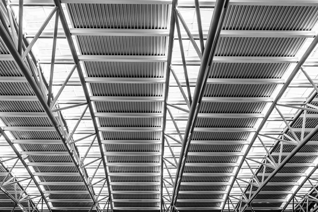 Wednesday, September 30th, 2015 in Hamburg - Number 274 of 366mm The ceiling of Hamburg's airport - Terminal 1
