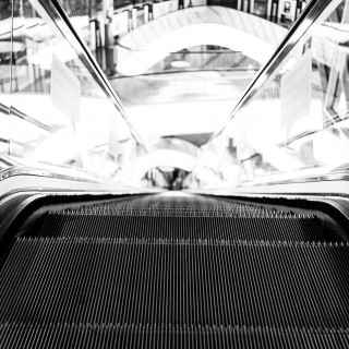 Wednesday, October 28th, 2015 in Frankfurt - Number 302 of 366mm MyZeil - Moving Stairs II