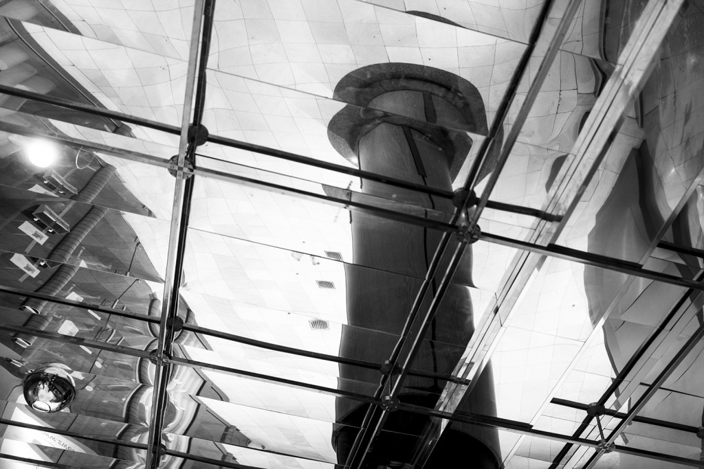 "Friday, November 6th, 2015 in Frankfurt - Number 311 of 366mm Pillar in the Mirror in the ""Schiller-Galerie"""