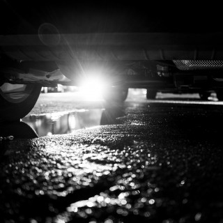 Tuesday, November 17th, 2015 in Frankfurt – Number 322 of 366mm Unique backlight from the underbody of a car