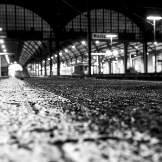Sunday, December 20th, 2015 in Wiesbaden – Number 355 of 366mm Outside view of the Wiesbaden railway station early in the morning